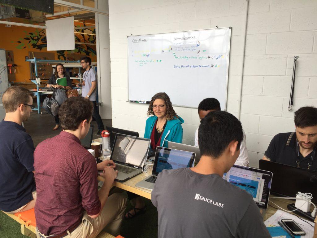 Brainstorm-event med resten av teamet i ACEA om selskapets kvartalsmålsettinger. Veldig lærerikt!